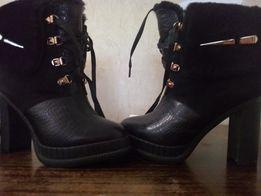 Зимние кожаные ботинки на натуральном меху 36beac0d2fa4b