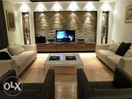 Gypsum ceilings, wall units and wall decorations