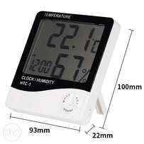 Digital Thermometer and Hygrometer with clock