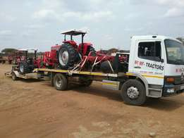 Another load of tractors and impl.delivered in Zim from N1 Mf Tractors
