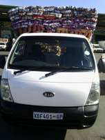 A good insured bakkie for hire short and long distances.
