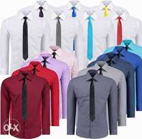 Men's Slim Fitting Official Formal Work Shirts.100% Cotton Long Sleeve