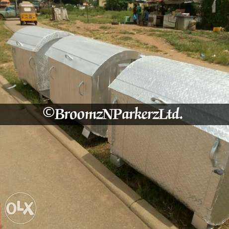 Galvanized 1200 liter AEPB specified waste bin . Free delivery Abuja - image 3