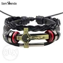 Vintage Braided Bracelets Bangles Male Jewelry