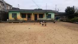 2wings of 2 bedroom flat on a 2 plots of land at igboelerin,iba
