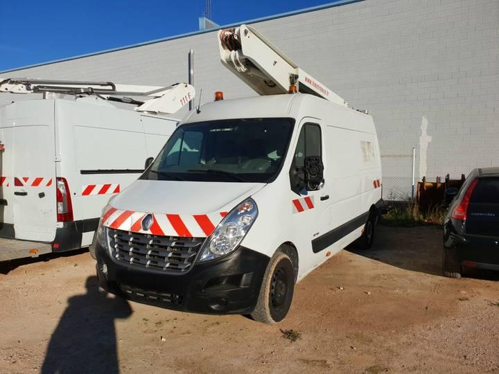 Renault master, versalift 11,6 mts boom lift van socage, oilandsteel - 2011