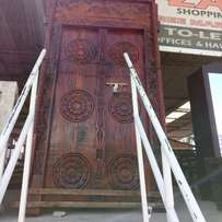 Lamu door with carving