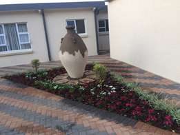 An attractive garden ornament and free base slabs. Price Reduced!