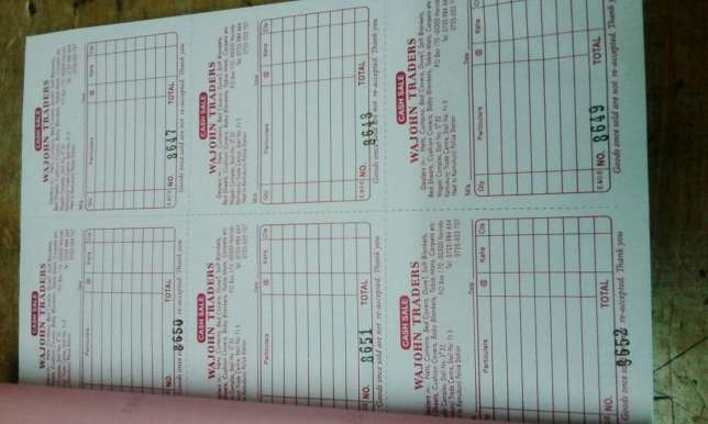 quality receipt books (book),business cards,letter heads,Printing Nairobi CBD - image 2