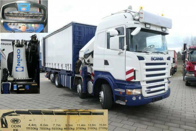 Scania R 480 LB/8x2*6HLB Pritsche Kran HMF 60m/to Odin - 2008