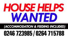 Live out house help needed at American house
