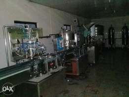 Complete water treatment and bottling machines for sale