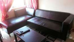 Beautiful as newl leather touch couch for sale
