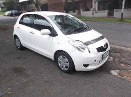 Toyota Yaris white in colour 2008 model 74000km R75000