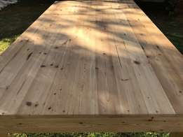 solid oregon pine 8 seater table