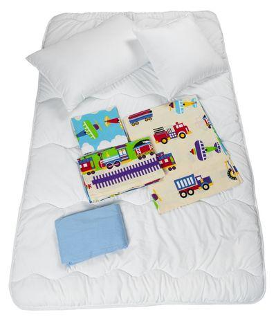 Pościel Dziecięca Zestaw 7 Elementów Na łóżko 160x80 Pojazdy