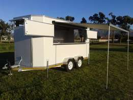 New fully equipped food trailer on double axel 2000 kg gvm trailer