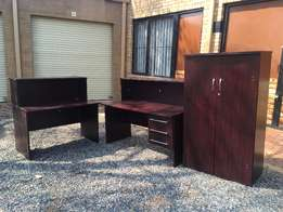 Five Piece Reception Desk and Counter Set
