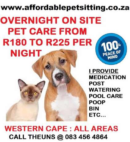 Pet Sitter and House Sitter : Goodwood to Durbanville Parow - image 1