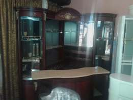 Big wine bar with front canter marble top