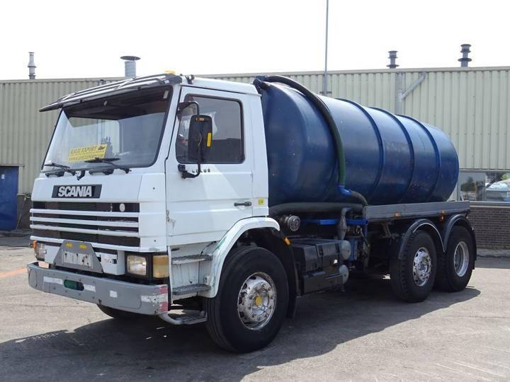 Scania P93 Vacuum Toilet Truck 14.000L 6x2 Good Condition - 1995