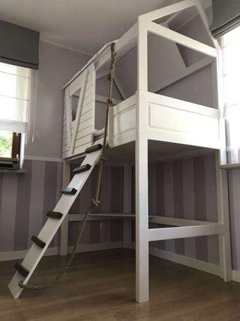 łóżko Piętrowe Domek Princess Lite Drewno Solidne 160x80