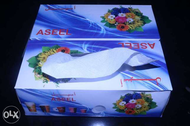 Paper Tea Cup & Tissue Box for The Sale