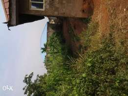 Uncompleted 3 bedroom flat built on a half plot of land