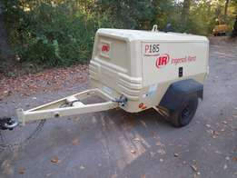 Fully serviced 185cfm Ingersoll rand tow-able air compressor