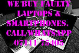 We buy Faulty Laptops