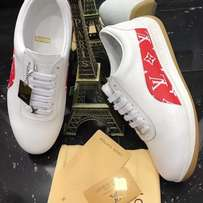 Louis Vuitton supreme white sneakers