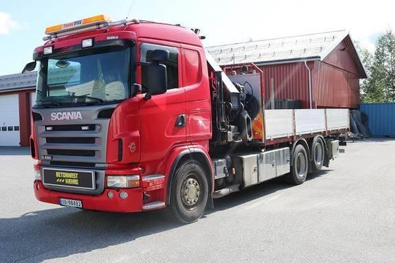 Scania G480 Cb 6x2 Kranbil - Hiab 422e-7 Kran - 2009