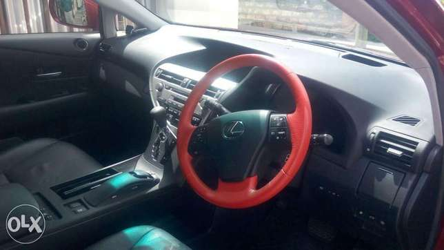 Red colour 2010 model Lexus RX 450h KCP number Mombasa Island - image 3