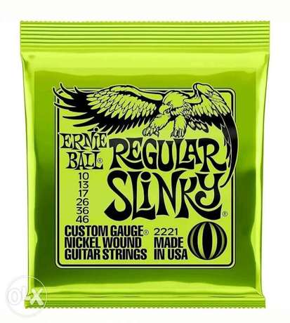 Ernie Ball Nickel Slinky Lime Guitar Strings Gauges 010 to 046