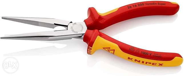 KNIPEX Snipe Nose Side Cutting Pliers (Stork Beak Pliers) 1000V-insula بيلا -  3