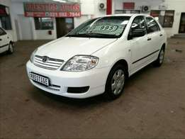 2006 Toyota Corolla 160i GLE,with 110000km,Full Service History, A/C