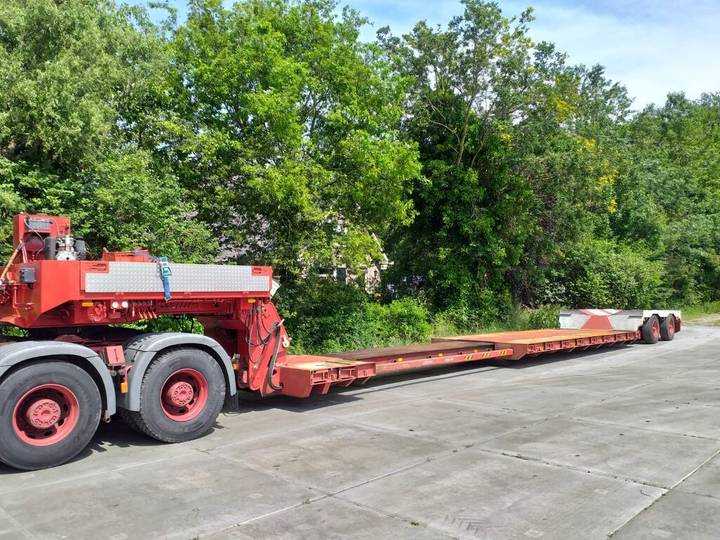 Scheuerle Euro low loader removable neck 4,5m tele top condition - 1987