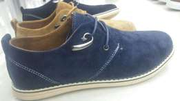 Quality sued shoes blue,black and brown for sale