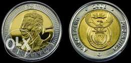 90th birthday 2008 Mandela R5 Coin