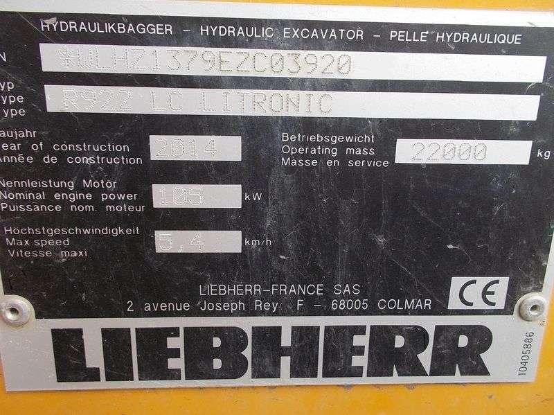 Liebherr R 922 LC Litronic - 2014 - image 16