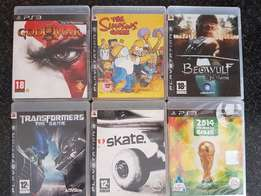 Ps3 Games X 6 Action in covers