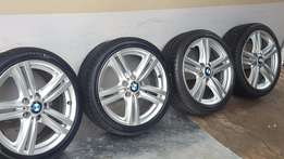 Latest Original 18 inch BMW 135i mags with Tyres fits Any 1 series BMW