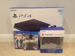 Sony PlayStation 4 PS4 1TB with 2 Controllers and games