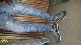 """Original with great quality """"AKUBE SHOE, JEAN AND SHIRT"""""""