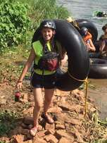 Expert tubing on the Nile River