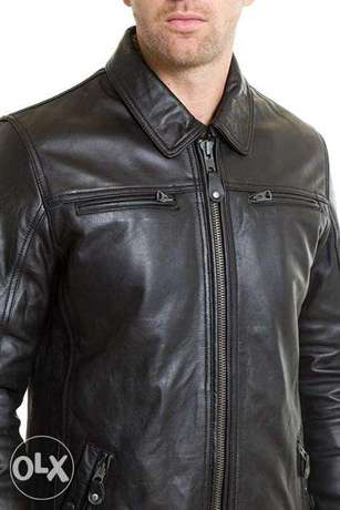 schott real leather jacket made in usa size medium used v good cond