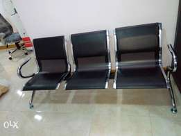 Imported Durable Leather 3in 1 Reception Office Chair