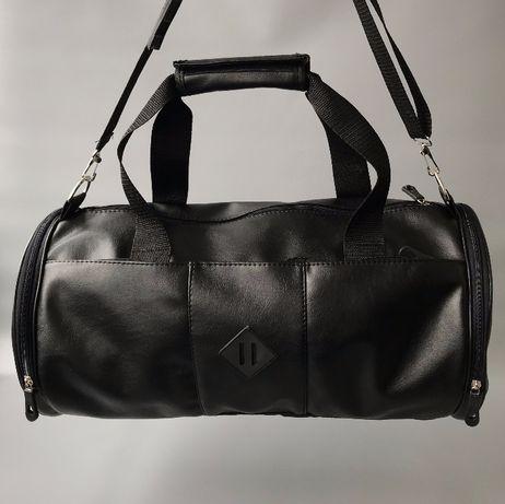 24496811963c Кожаная городская, дорожная, спортивная сумка бочка Маріуполь - зображення 1