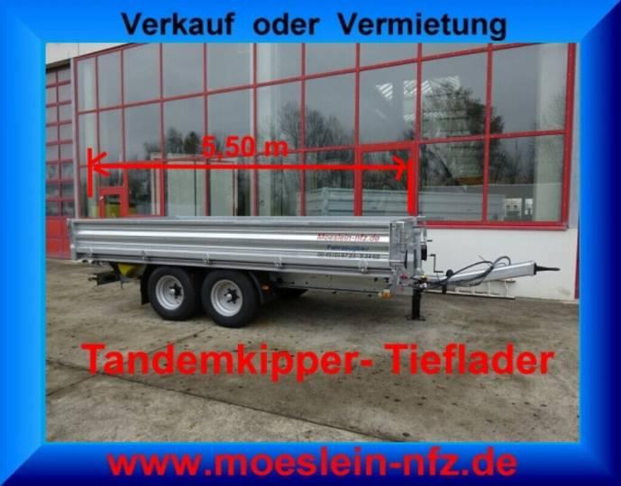 Möslein TTD 11- 5,5 m Tandem- 3- Seiten- Kipper Tieflade - 2019