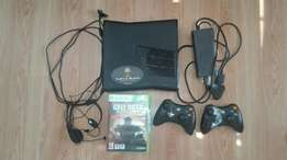 Xbox 360, 2 controllers, 8 games and Turtle Beach headset.